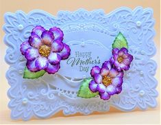 F4A576 Mother's Day by Shoe Girl - at Splitcoaststampers. Pin Now! #heartfeltcreations #papercraft #diycraft #diy #crafts #stamps #dies #stamping #die #card #cards #cardmaking #flowershaping #handmadeflowers #embellishments #scrapbooking Mothers Day Flowers, Mothers Day Cards, Happy Mothers Day, Heartfelt Creations Cards, Purple Accessories, Mother's Day Photos, Paper Crafts, Diy Crafts, Handmade Flowers