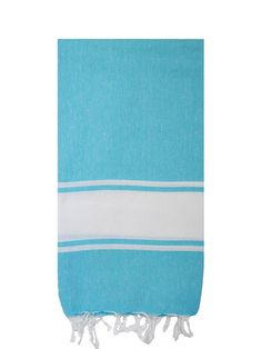 Loomed from the finest Turkish cotton, our standard Basic Bath towel has been redesigned and lengthened to establish the Basic Beach Blanket. This Turkish towels sophisticated single stripe and extra length create a summer blanket, table cloth, beach throw, bedroom curtain, and much more.