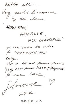 Album 3 'How Big How Blue How Beautiful' by Florence and the Machine.