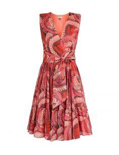 Cotton-silk tie-front dress  IssaLondon