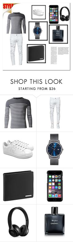 """""""Style"""" by tycoon2017 ❤ liked on Polyvore featuring Dsquared2, adidas, Emporio Armani, Porsche Design, County Of Milan, Beats by Dr. Dre, Chanel, men's fashion and menswear"""
