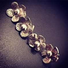 Finished off Small flower two part stud earrings #flowers #craftharvest #reticulatedsilver #earrings #statementjewelry #nature #design #contemporaryjewellery