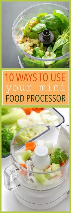 Ways to use your mini food processor, also known as a food chopper. 10 quick ways to make use of this handy little appliance!
