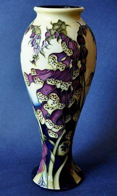 Moorcroft Pottery Fairies Foxgloves 75/10 Kerry Goodwin http://www.bwthornton.co.uk/moorcroft.php