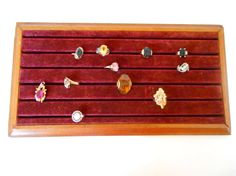 Vintage Velvet Jewelry Display Ring box Store by nanascottagehouse, $39.99