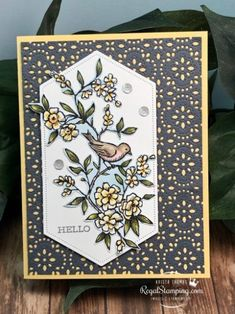Gray Stitched Lace with Bird Ballad by sanitystamper - Cards and Paper Crafts at Splitcoaststampers Bird Cards, Butterfly Cards, Stamping Up Cards, Scrapbooking, Homemade Cards, Paper Design, Making Ideas, Cardmaking, Your Cards