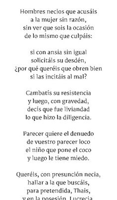 REDONDILLAS - Poema 1/4 Sor Juana Inés de la Cruz