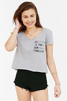 BDG Out Til The Sun Cropped Tee #UrbanOutfitters
