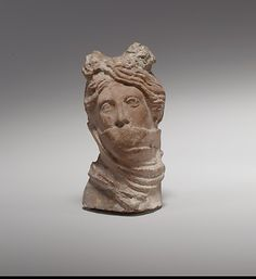 Terracotta head of a veiled Etruscan Vestal virgin C.100BC From Cyprus The MET 1000s years later pervert Arabic clergy started using the same veil in a different context to oppress the religiously disadvanced females