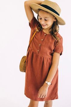 bc4ef4e759f2 Quincy Button Dress. ROOLEE. Girls Fashion KidsLittle ...