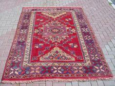 Prayer rug from Turkey vintage Turkish carpet rug by misterpillow, $998.00