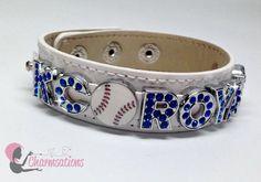 Charmsations - KC Royals Baseball White Wide Leather Bracelet, $15.00 (http://www.charmsations.com/kc-royals-baseball-white-wide-leather-bracelet/)