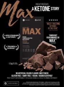 Pruvit's newest flavor: Max Swiss Cacao! Studies have been proven that exogeneos ketones result in energy, focus and fat loss. All this and it tastes like iced hot chocolate! Read our review for more information. #ketoos #max #swisscacao #ketogenic