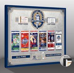 Mariano Rivera Tickets To History Canvas Print - New York Yankees
