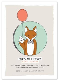 Birthday Fox by Paper Nest by Lesa