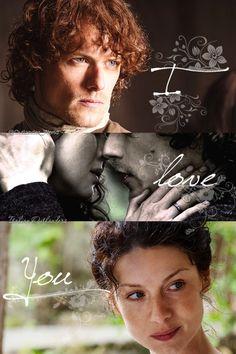 Jamie & Claire Outlander love ................