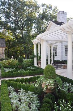 fleaingfrance: FleaingFrance…..my favorite way to garden Formal Gardens, Outdoor Gardens, Boxwood Garden, Herb Garden, Vegetable Garden, Box Garden, Boxwood Hedge, Potager Garden, Easy Garden