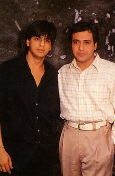 SRK and Govinda.  I secretly think Govinda is so cute.