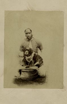 Man with a dog - India, 1870's