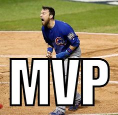 MVP Zobrist Chicago Cubs Go Cubs Go 2016 World Champions Go Cubs Go, Chicago Cubs, Champion, Baseball Cards, Sports, Hs Sports, Sport