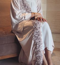 My personal Fav!  Our Eid Exclusive Abaya! The work is fully done by hand, the lace stitched on the abaya is filled with roses, pearls and beads! Its just beyond perfection! For orders, please contact us on Direct or Whatsapp! • طبعاً هالقطعه المفضله لي شخصاً! التفاصيل و الشغل الي فيها خياااال! مناسبه جداً للعيد و القطعه هاي خاصة للعيد و الكميه جداً محدوده،. الشغل الي فيها يدوياً بالكامل، الدانتيل فيه وود، لولو و خرز! للتواصل الرجاء التواصل على الواتساب او الدايركت ! • #PearlsinLace