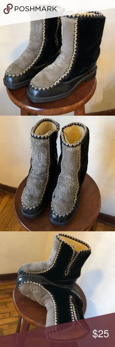 ❄️Snowland Vintage Boots Unique! Size 8 These are so cool looking. Good condition, some scuffs on the black rubber around the toes. All made made materials. Stiff, sturdy sole. Really interesting embroidery trim. Snowland Shoes Winter & Rain Boots