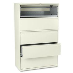 "HON 800 Series 42""W 5-Drawer  File Finish: Putty"