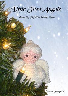 Little_tree_angels_2_small2 Crochet Christmas Decorations, Crochet Ornaments, Christmas Crochet Patterns, Holiday Crochet, Christmas Knitting, Crochet Crafts, Free Crochet, Crochet Buttons, Birthday Decorations