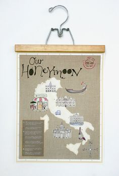Custom Map Illustration 11x14 by LindseyBee on Etsy