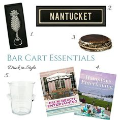 Hamptons House, The Hamptons, Bar Cart Essentials, Home Furniture, Entertaining, Drinks, Drinking, Beverages, Home Goods Furniture