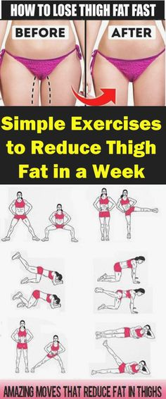 8 Easy Exercises to Reduce Thigh Fat in a Week Inner Thigh Fat # Oe . - 8 simple exercises to reduce thigh fat in a week Inner thigh fat # Exercises # Inner thigh # R - Thigh Workouts At Home, Leg Workout At Home, Toning Workouts, Easy Workouts, Yoga Exercises, Inner Thigh Exercises, Workouts For Inner Thighs, Exercises To Tone Legs, Lean Leg Exercises