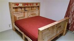 There are many structure of DIY Hand-build pallet bed and headboard is are available on the internet and many videos are placed on YouTube where you can watch and make something and wooden Pallet bed for your house.