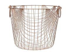 Copper metal basket