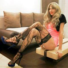 "adore-crossdressers: "" stunning long tranny legs """