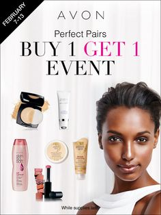 I love these products when they're together! Buy 1 and Get 1 at my eStore this week at www.yourAVON.com/gowithsally! #AvonRep