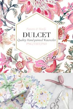 Presenting my latest exquisite design DULCET which is hand painted watercolor Palampore inspired elements in soft yet vibrant tones of beautiful colors.