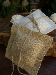 Ring bearer pillow - burlap