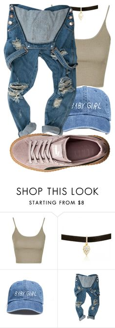 """Untitled #83"" by rich-princesa ❤ liked on Polyvore featuring Topshop and Puma"