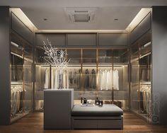 Bedroom Closet Storage, Bedroom Closet Design, Home Room Design, House Design, Wardrobe Door Designs, Closet Designs, Showroom Interior Design, Bathroom Interior Design, Luxury Closet
