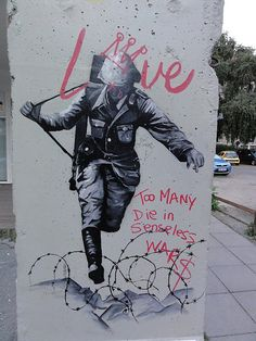 Street art in Berlin, near Holocaust Memorial