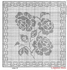 Филейные кофточки - Вязание - Страна Мам Crochet Pillow Pattern, Crochet Motif, Crochet Flowers, Knit Crochet, Crochet Patterns, Crochet Curtains, Crochet Blouse, Filet Crochet, Doilies