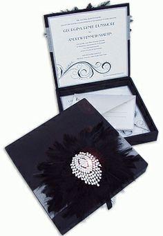Roaring Twenties  Luxury Couture Wedding Invitation