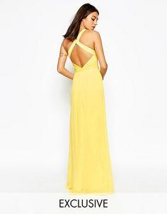 9279bdfc0ac5 image.AlternateText Open Back Maxi Dress, Open Back Dresses, Yellow Dress,  Yellow