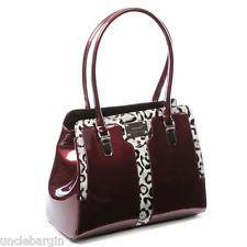 Serenade Mulberry Snow Leopard Genuine Leather Handbag Sh25 7100