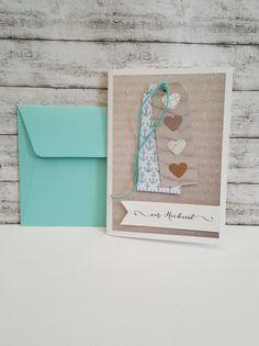 Hochzeitskarten - Maritime Hochzeitskarte ANKER & HERZEN Schnur - ein Designerstück von POMMPLA bei DaWanda