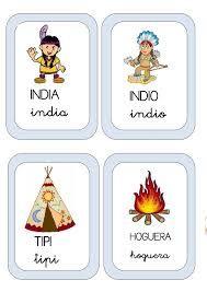 Resultado de imagen de fichas proyecto indios para infantil