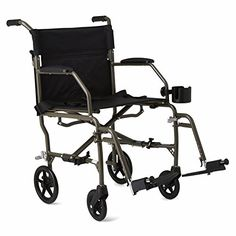 Medline Ultralight Transport Chair 19 Wide Seat Permanent DeskLength Arms Swing Away Footrests Silver Frame *** Offer can be found by clicking the VISIT button http://www.amazon.com/gp/product/B004TK1AR4/?tag=buyamazon04b-20&pep=250217210031