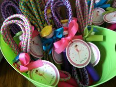 Love the jumprope idea for a party favor - Gymnastics Party Favor Tags by welcometomystore on Etsy