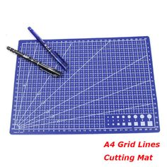 Peerless 1pc 30*22cm A4 Grid Lines Self Healing Cutting Mat Craft Card Fabric Leather Paper Board Sturdy Construction Office & School Supplies