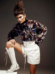 visual optimism; fashion editorials, shows, campaigns & more!: rayne ivanushka by lina tesch for l'officiel switzerland february 2015